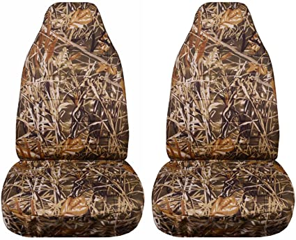 Camouflage Car Seat Covers Wetland Camo