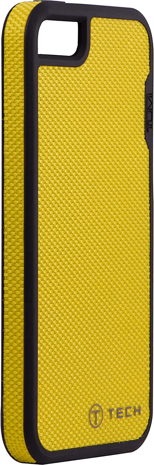 iPhone 5/5s Case - T-Tech by Tumi Slim Fitted Triple Layer Protective, iPhone 5/5s Yellow Ballistic Nylon, 13893