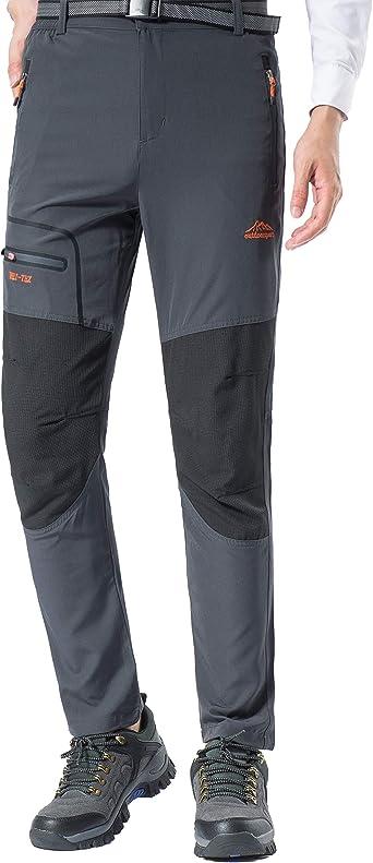 BenBoy Pantalon Montaña Hombre Secado Rápido Impermeable ...