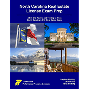 North Carolina Real Estate License Exam Prep: All-in-One Review and Testing to Pass North Carolina's PSI Real Estate…
