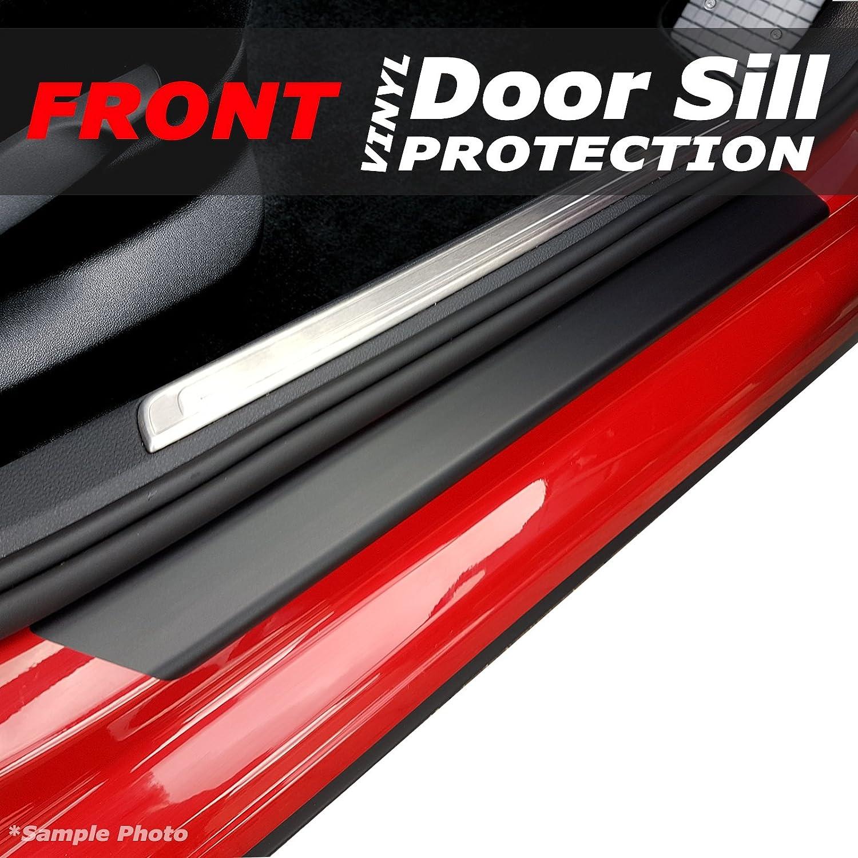 carmats4u Matt Black Vinyl Door Sill Protectors 2 Piece Unique Car Mats