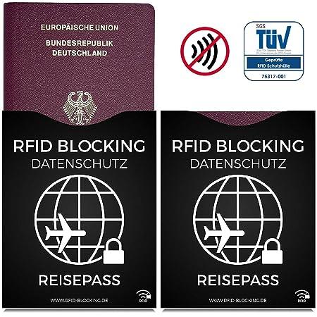 RFID Blocking NFC envoltura protectora (12 piezas) de tarjeta de crédito, carnet de identidad, carta bancomat, pasaporte - 100% de protección contra el robo ...