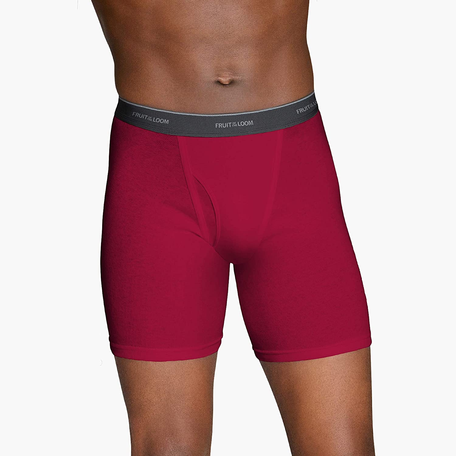 Fruit of the Loom Mens 5-Pack No Ride Up Assorted Boxer Brief