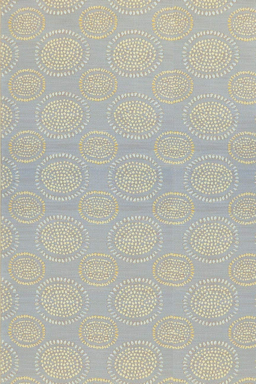 Mad Mats Molly Indoor Outdoor Floor Mat 6 x 9 , Grey Yellow