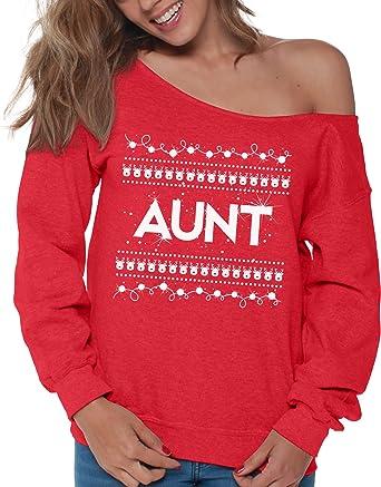 72e008a06d92 Vizor Grandma Off Shoulder Sweatshirt Wifey Off Shoulder Top Aunt ...