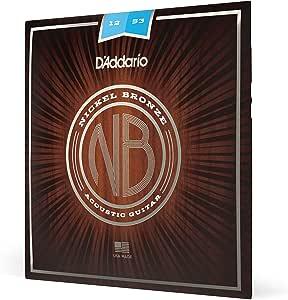 DAddario NB1253 - Cuerdas para guitarra acústica (6 cuerdas ...