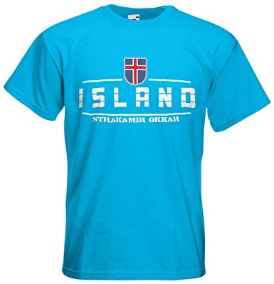 Island Fanshirt T-Shirt Länder-Shirt im modernen Look: Amazon.de: Bekleidung
