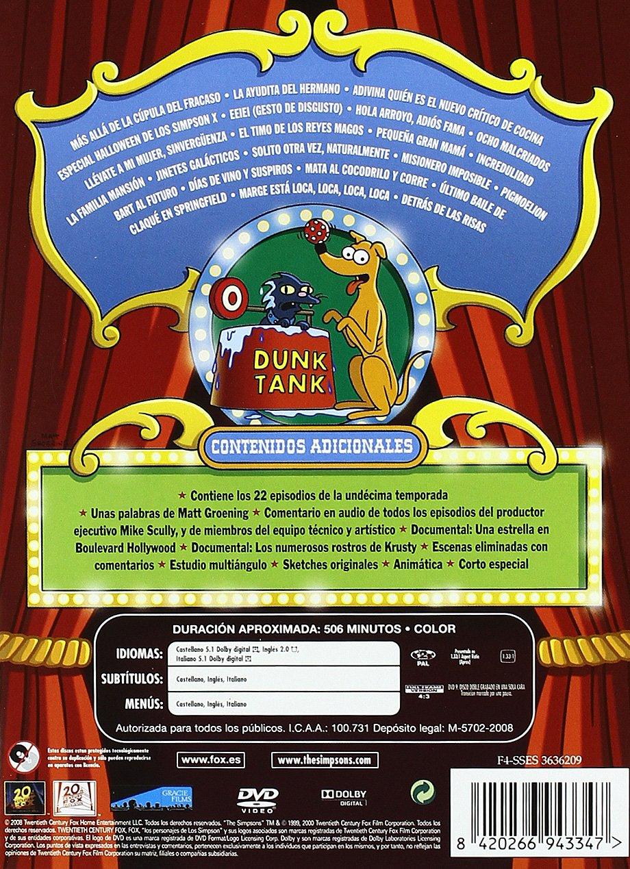 Amazoncom Simpson 11ª Temporada Import Movie European Format