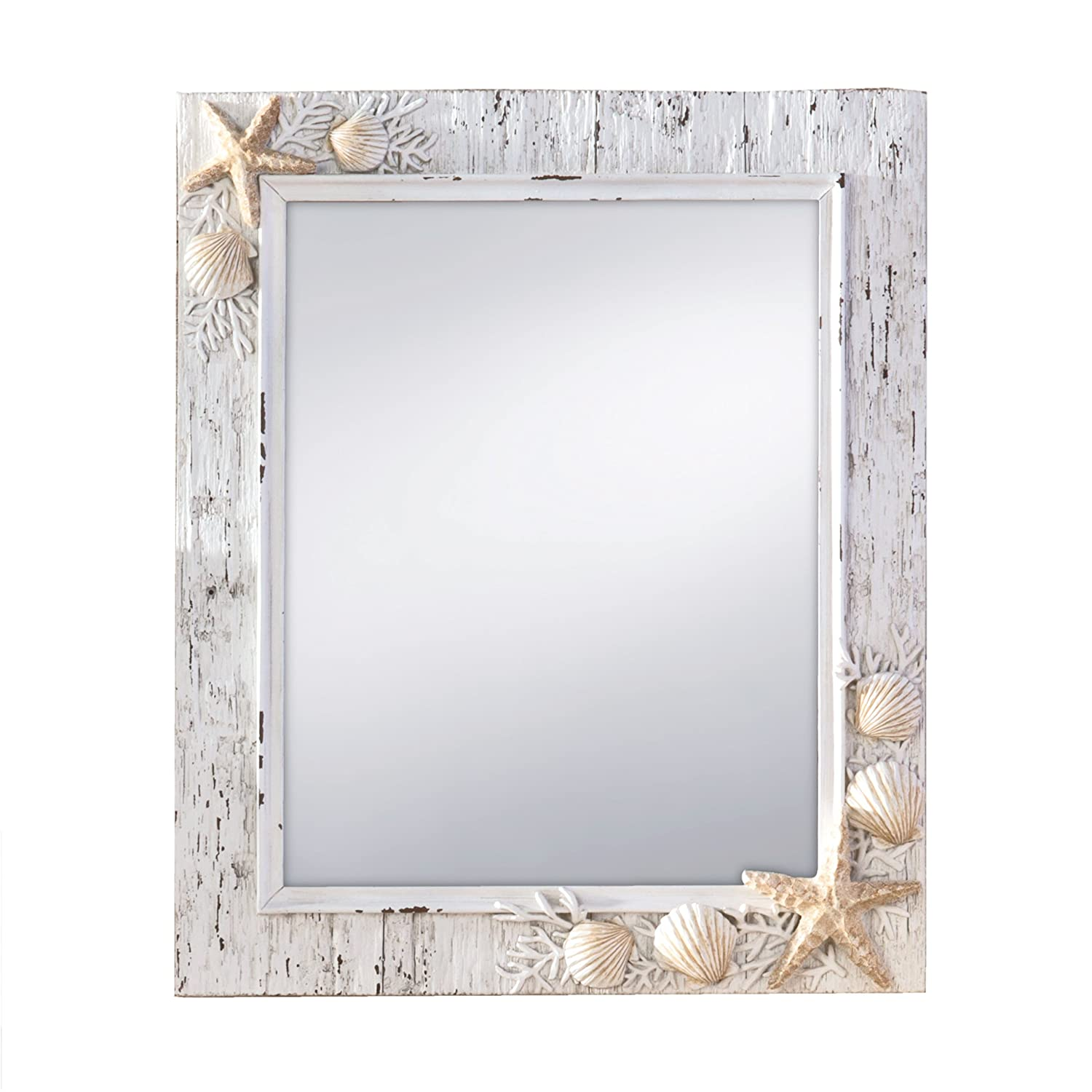 Amazon.com: Prinz Sand Piper Mirror With Resin Border And Seashells And  Starfish Accents: Home U0026 Kitchen