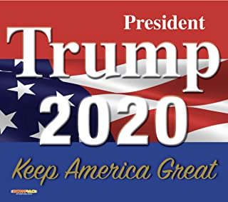product image for WOW!PAD 7.5 x 8.5 Inches Mouse Pad - President Trump 2020, Keep America Great Flag Design, Includes 2 Non-Slip Trump Bookmarks