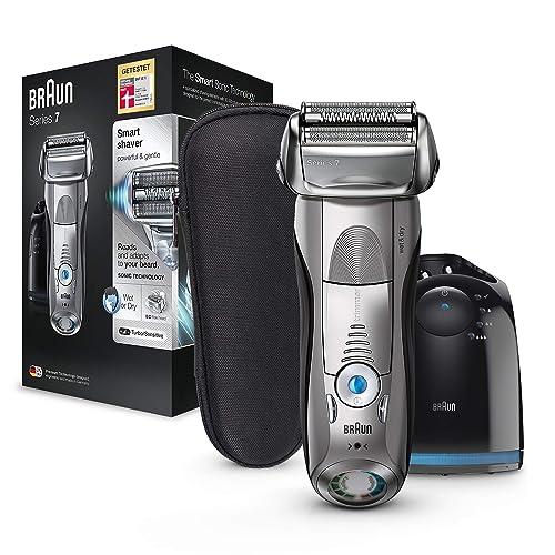 Braun Series 7 7898 cc Afeitadora eléctrica para hombre de lámina en seco y mojado máquina de afeitar barba con estación de limpieza Clean Charge