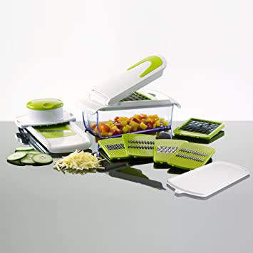 kitchencook ml7 mandoline kitchencook 7 en 1 blanche et verte blanc vert