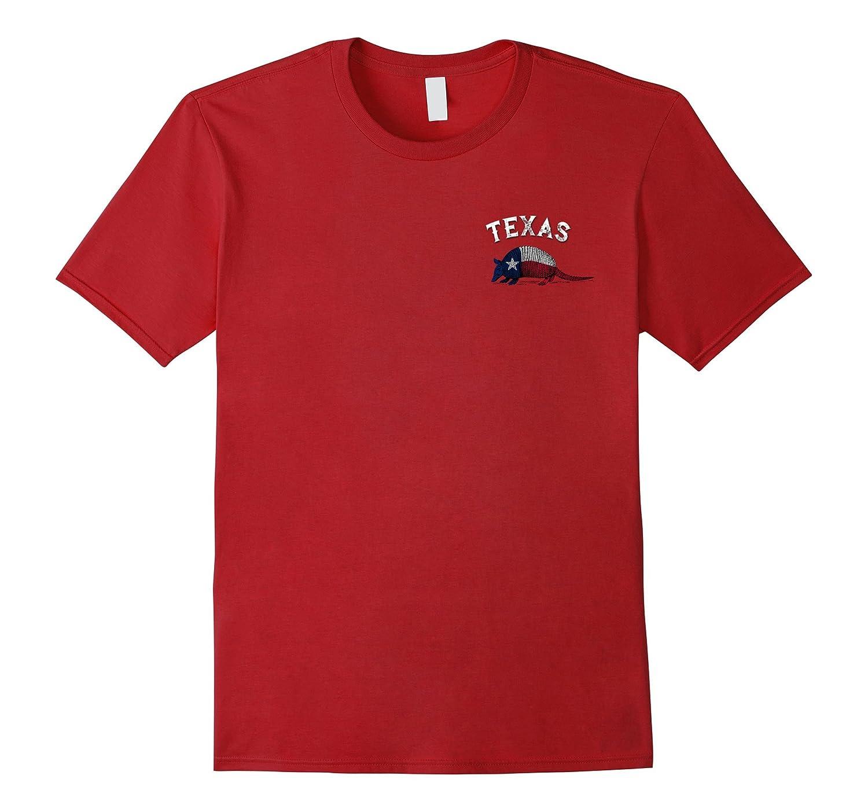Armadillo Texas Flag Pocket Logo T-Shirt-FL