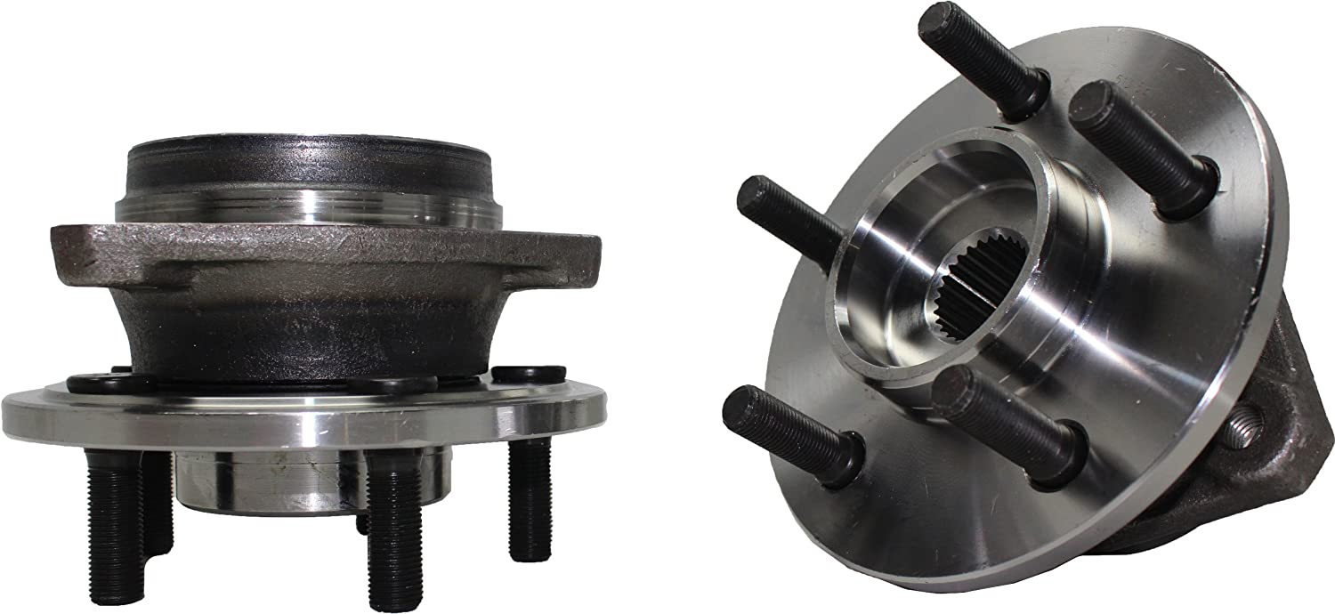 Brand New (Both) Front Wheel Hub and Bearing Assembly fits: 1999-01 Jeep Cherokee (with FULL CAST Rotors), 2000-06 TJ (All 4x4 models), and 2000-06 Wrangler (All 4x4 Models) 5 Lug (Pair) 513158 x2 Detroit Axle