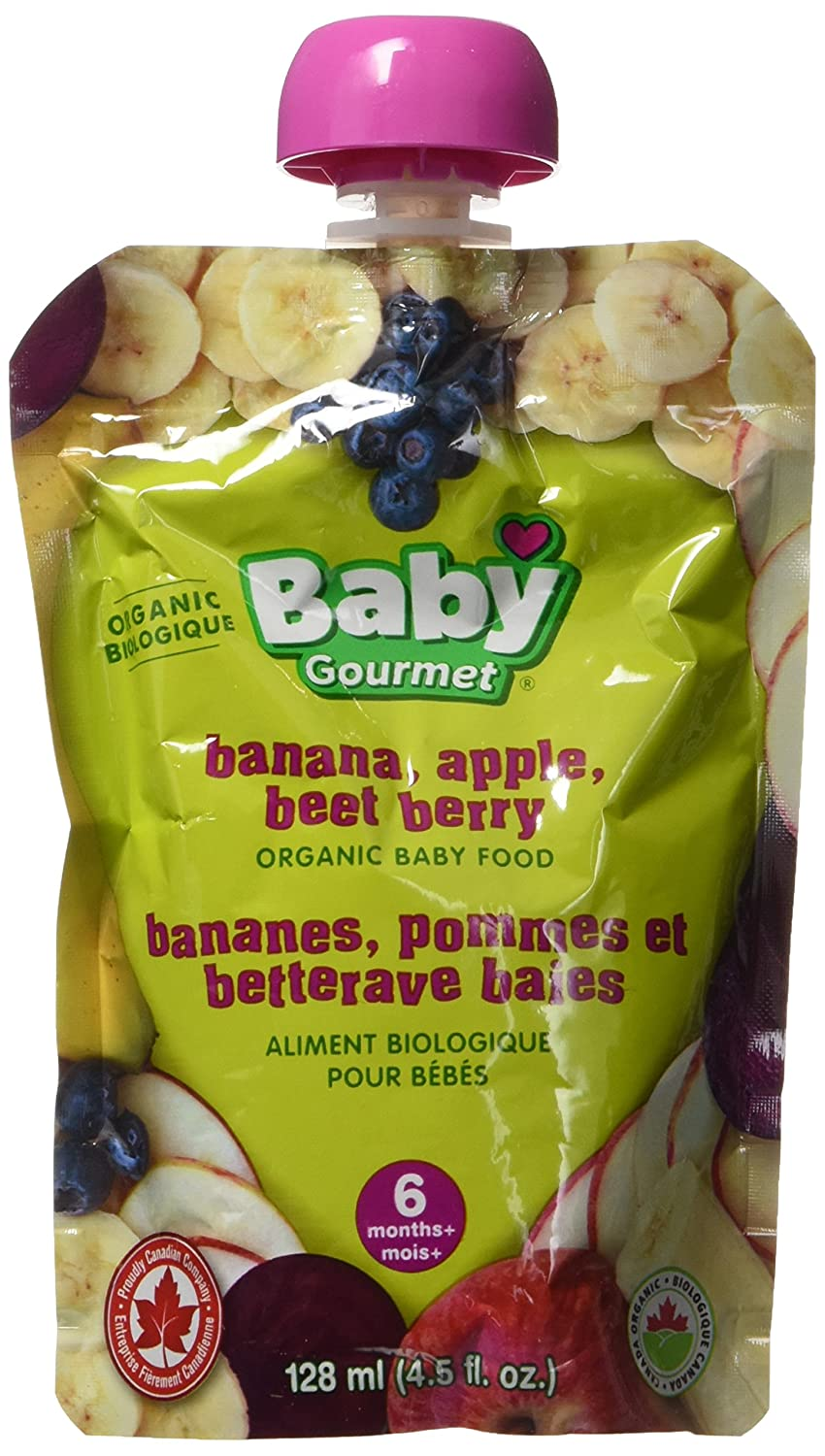 Baby Gourmet Banana Apple Beet Berry, 12 Count Baby Gourmet Foods Inc BABB4BGCSCD0012