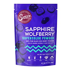 Suncore Foods – Premium Sapphire Wolfberry Supercolor Powder, 3.5oz – Natural Wolfberry Food Coloring Powder, Plant Based, Vegan, Gluten Free, Non-GMO