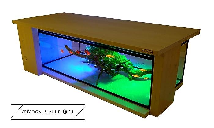 Table Basse Aquarium Terrarium Palace 20 Led Design Unique