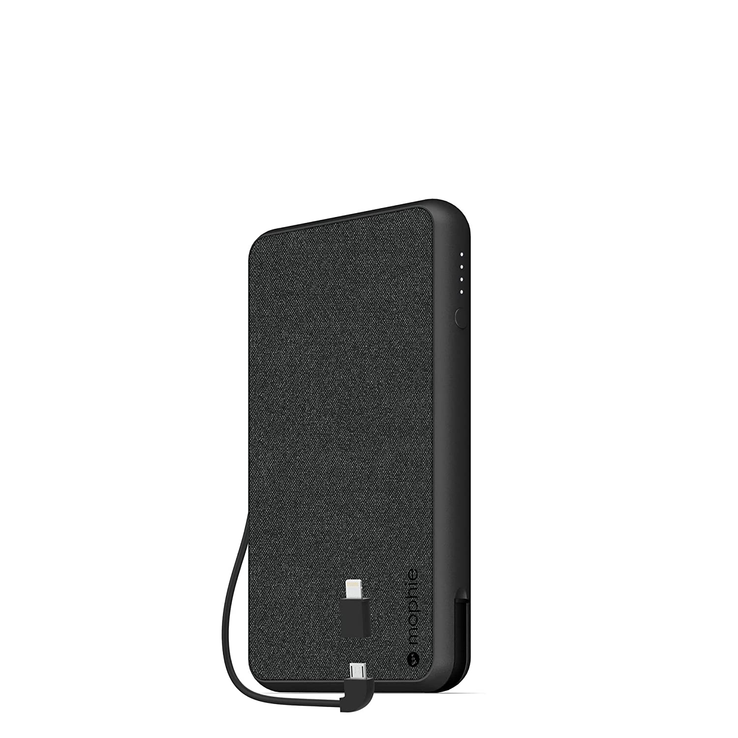 look for 24efa eac6e mophie powerstation Plus XL (10,000mAh) - Qi Wireless Charging with Built  in Micro USB and Lighning Cables - Black