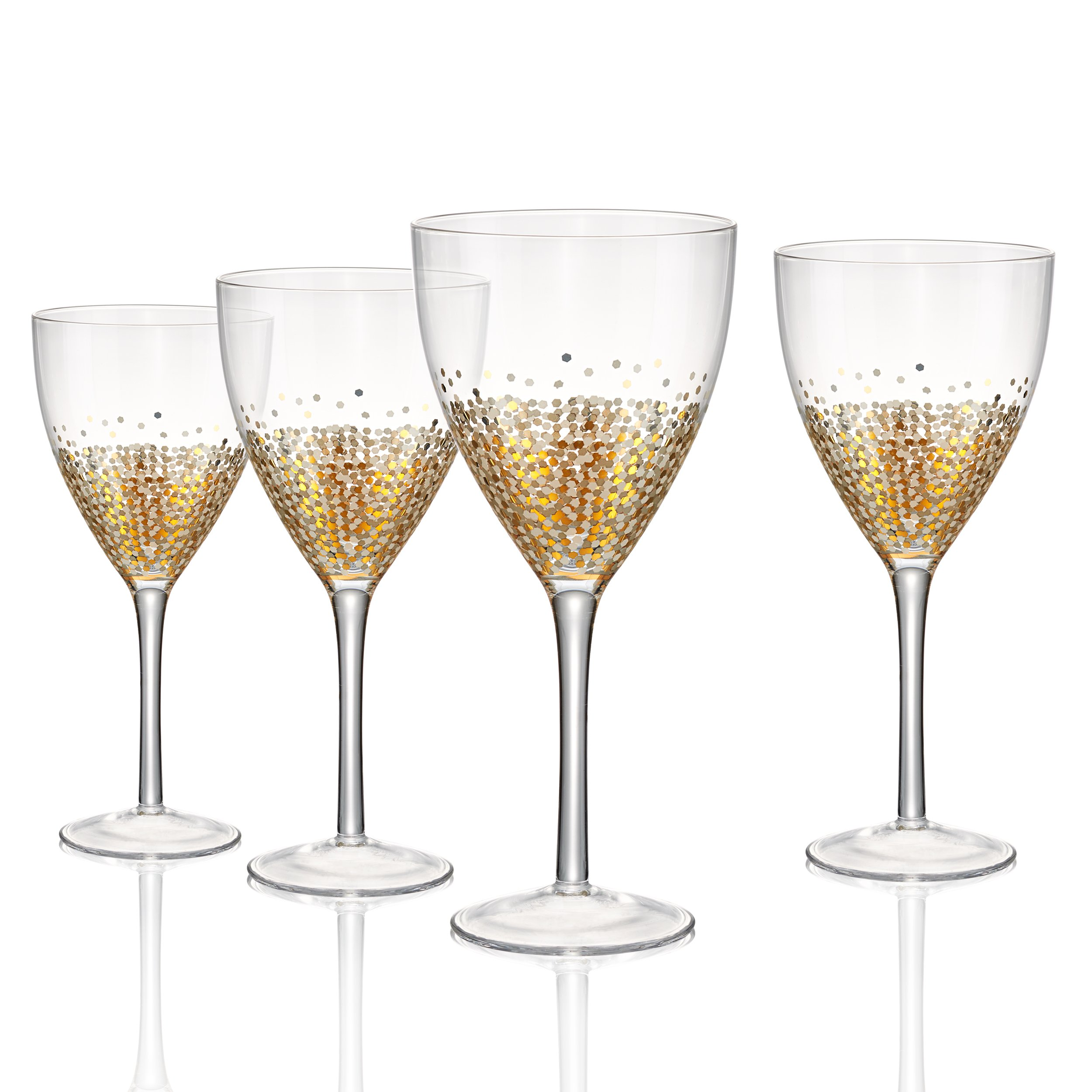 Artland Ambrosia Goblet 14 oz (Set of 4), Gold/Silver