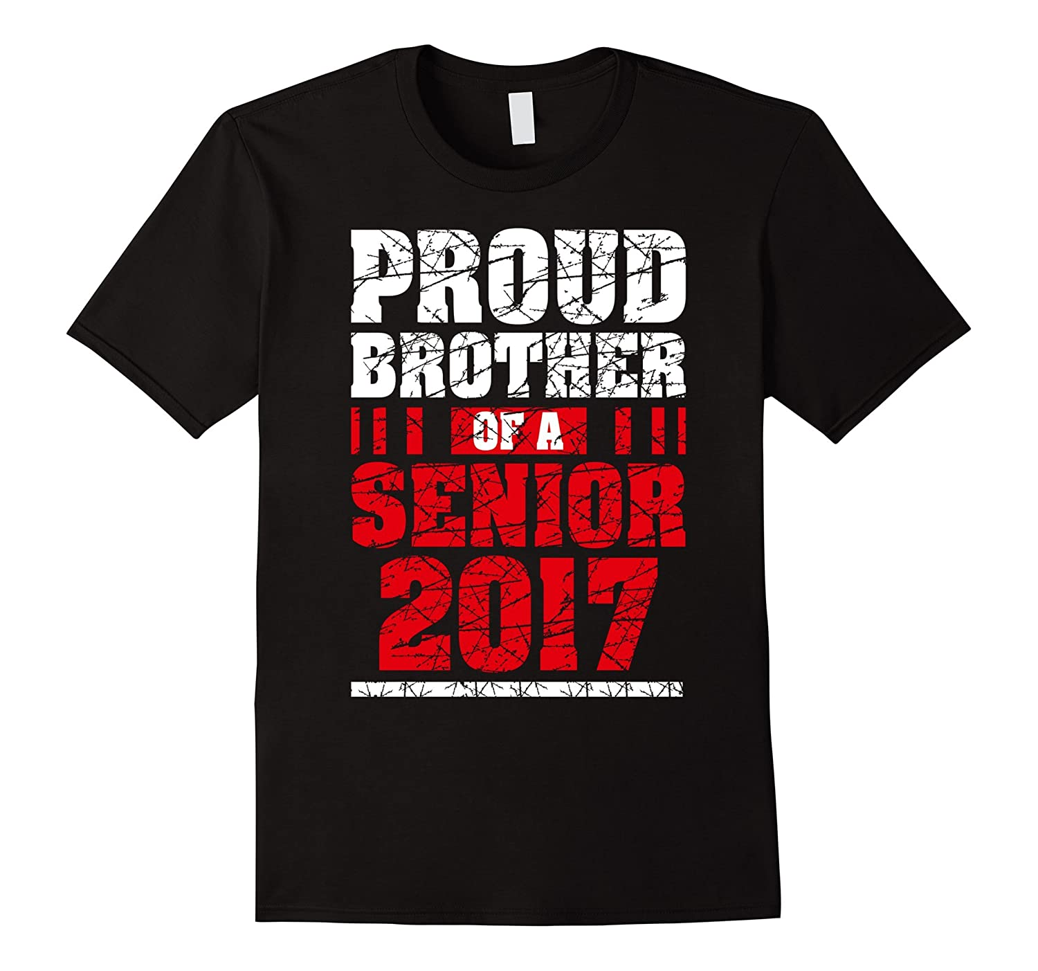Awesome Proud Brother of a Senior 2017 Graduation TShirt Men-Vaci