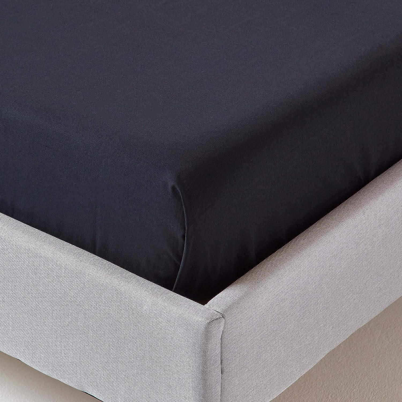 schwarz Homescapes Bettlaken Betttuch//Haustuch 100/% Reine /ägyptische Baumwolle unifarben 230 x 255 cm Fadendichte 200 Perkal-Bettlaken