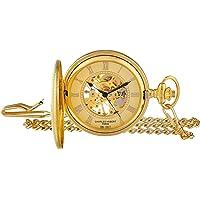 Charles Hubert 3861-g chapado en oro reloj de bolsillo mecánico