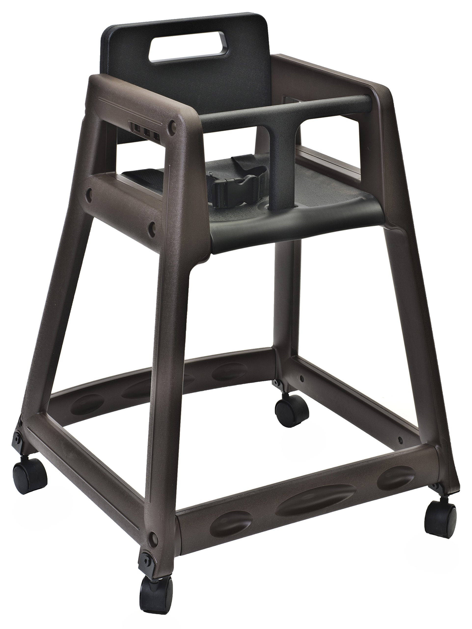 Koala Kare KB850-09W Diner Plastic High Chair with caster Wheels, Brown , 23'' Height, 23'' width, 30'' Length