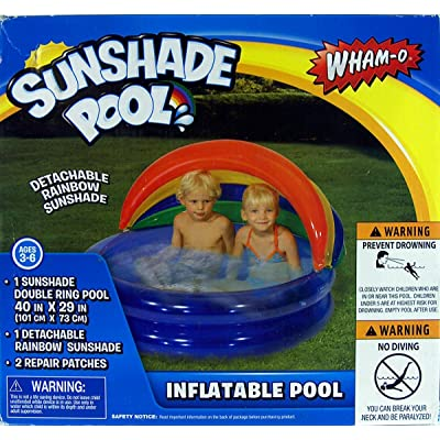 Wham-O Outdoor Sunshade Inflatable Pool Outdoor Toy: Toys & Games [5Bkhe1205436]