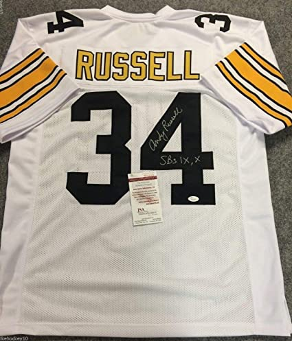 5b5fbb16d Andy Russell Autographed Signed Incscribed Pittsburgh Steelers Jersey - JSA  Authentic