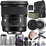 Sigma 24mm F1.4 Art DG HSM Lens for Canon DSLR Cameras + Sigma USB Dock with Altura Photo Essential Accessory and Travel…