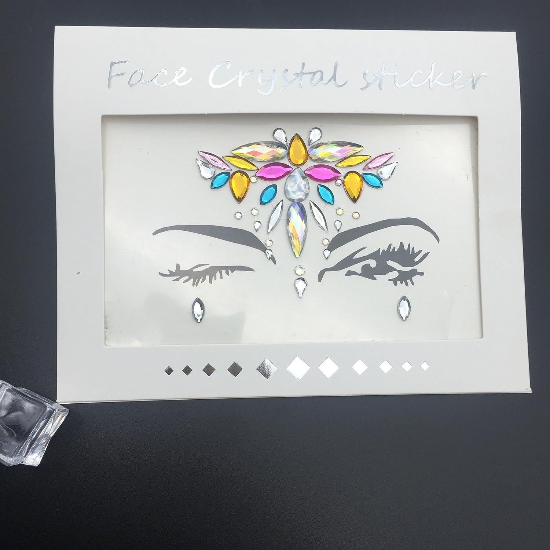 Amazon.com: MIOJIOA Adhesivo para la cara con diamantes de ...