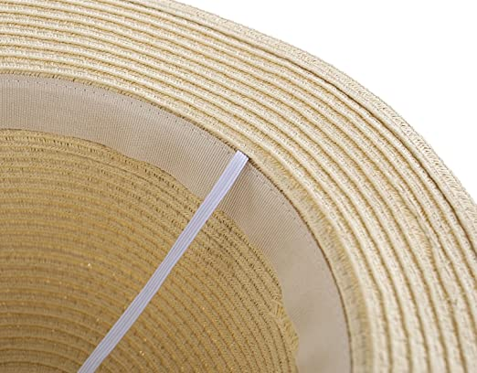 6984632dd011d Amazon.com  Connectyle Kids Summer Straw Hat Bowknot Beach Sun Protection  Hats for Girls  Clothing