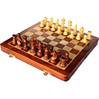 """14"""" x 14″ Collectible Wooden Folding Chess Game Board Set+Wooden Magnetic Crafted Pieces (Delivery < 7 Days)"""