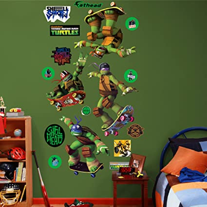 FATHEAD Teenage Mutant Ninja Turtles - Skateboarding Wall Decal Collection