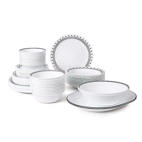 Amazon.com   Corelle Livingware 76-Piece Dinnerware Set, Service for ...