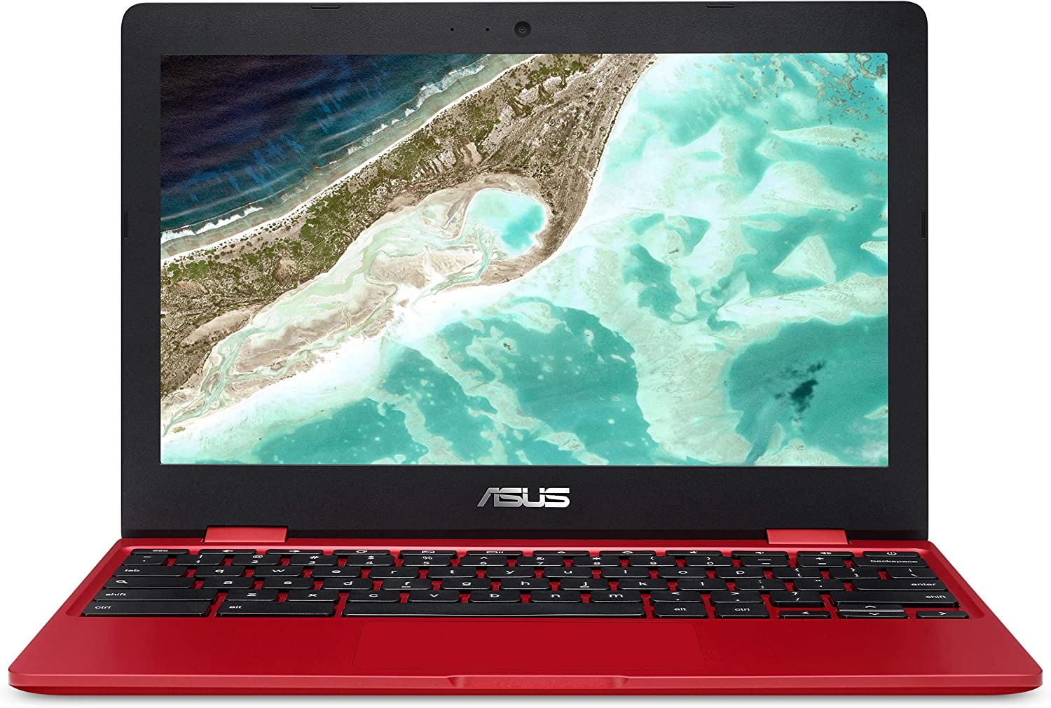 "Asus Chromebook C223 Laptop- 11.6"", Intel Dual-Core Celeron N3350 Processor (Up to 2.4GHz) 4GB RAM, 32GB eMMC Storage- C223NA-DH02-RD Red"