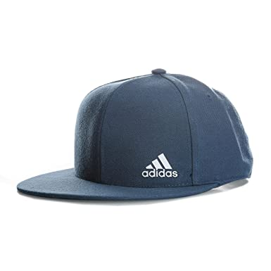 47013c4e1da adidas Mens Flat Peaked Cap in Blue - OSFY  adidas  Amazon.co.uk ...