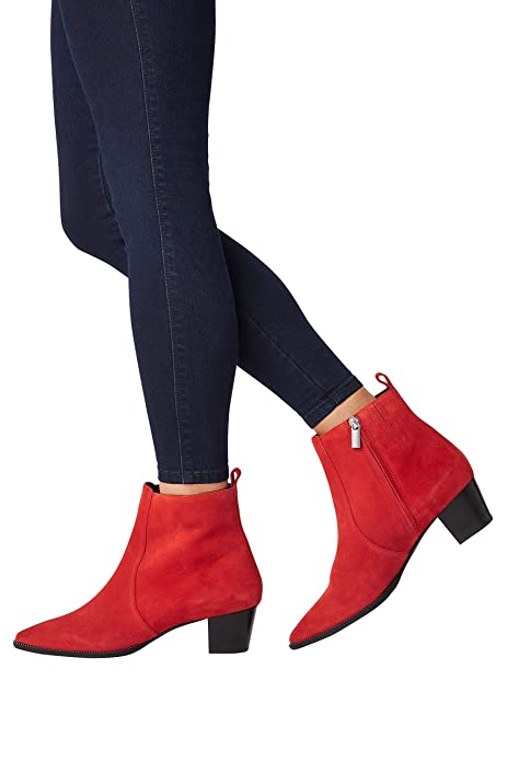 next Mujer Botines Estilo Western con Minitachuelas Rojo EU 43: Amazon.es: Zapatos y complementos