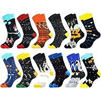 Belloxis Sokken heren 43-46 grappige kleurrijke werksokken geschenken voor mannen