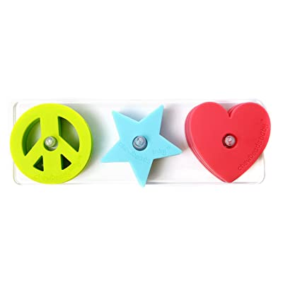 Chewbeads Stack and Play - Peace/Love/Star - 3 pk: Baby