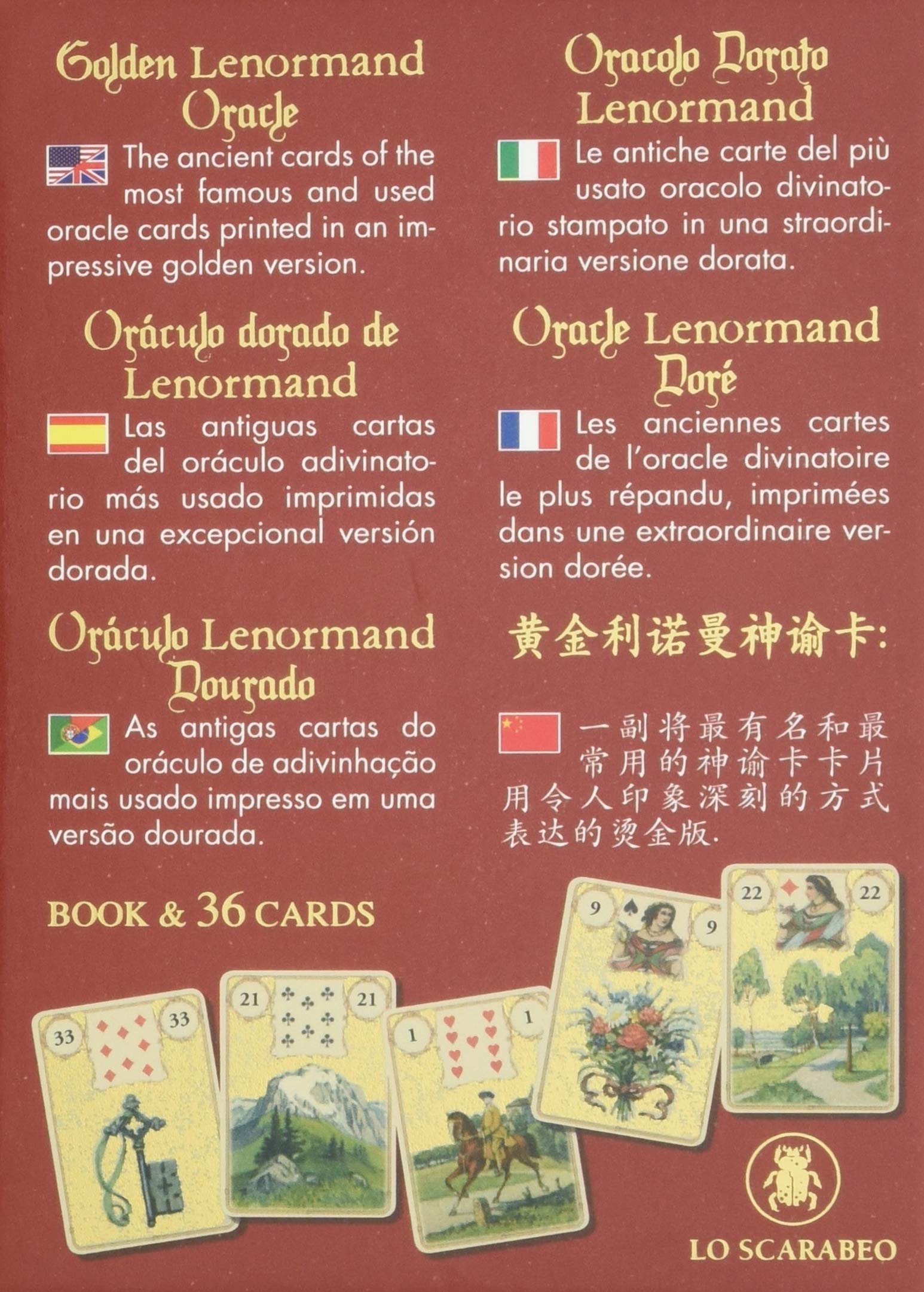 Golden Lenormand oracle: Amazon.es: Lunaea Weatherstone ...