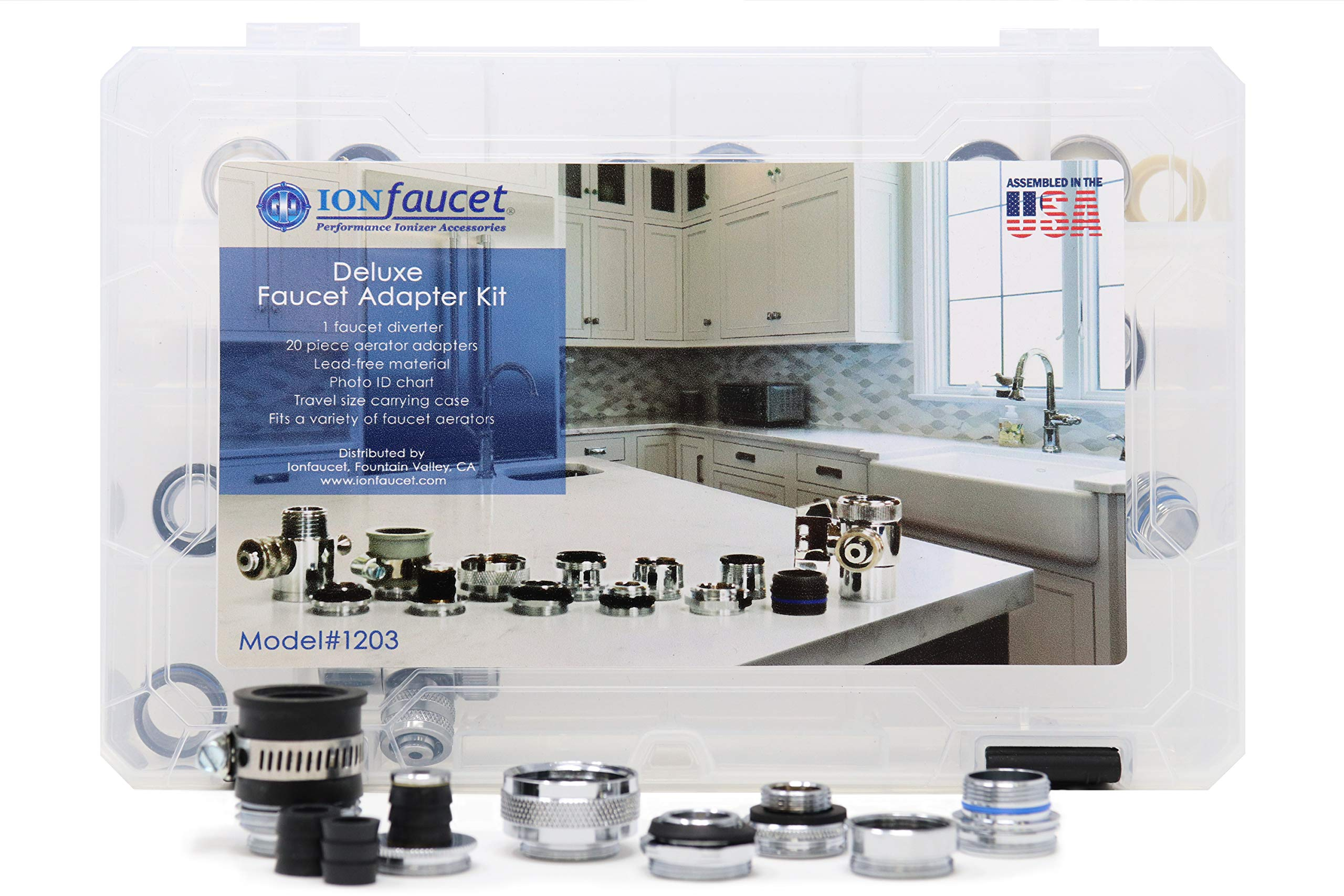 22 Piece aerator adapter kit by Ionfaucet