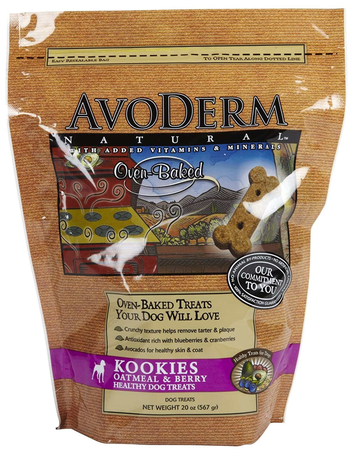 AvoDerm Oatmeal and Berry Biscuit Dog Treat good