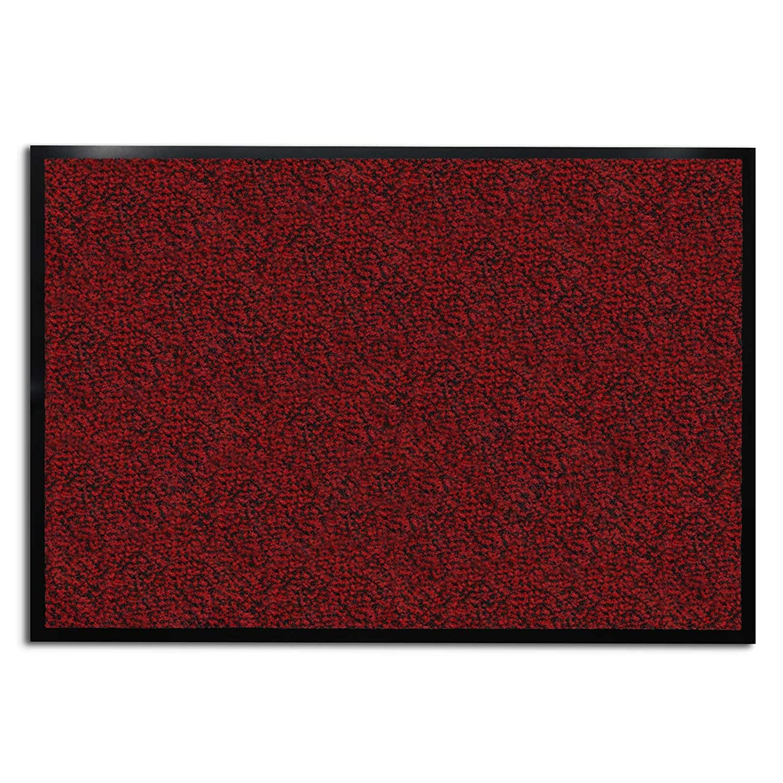 Casa pura carpet entrance mat red mottled 36 x 48 for Decorative door mats indoor