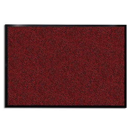 Casa Pura Zerbino Linea Sky | Rosso/Melangiato | Ultra Assorbente |  Antiscivolo | Lavabile