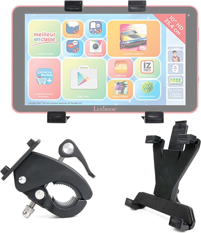 DURAGADGET-Soporte de tablet para bicicleta compatible con Lexibook MFC510FR1-Tablet táctil, Fluo Xl-Edition Premium-Soporte giratorio de 360° para manillar: Amazon.es: Electrónica
