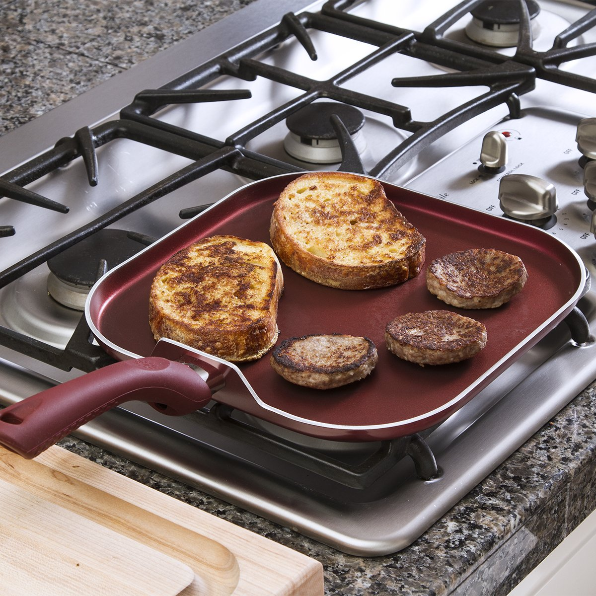 Ecolution Evolve Griddle Nonstick 11 Inch, Crimson Red