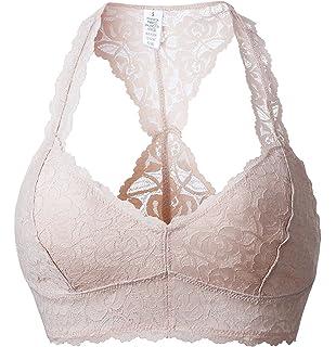 cbfa46287feeb DeepTwist Women s Sexy Lace Racerback Bralette Bustier Breathable Crop Top  Bra