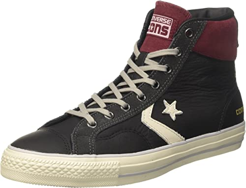 Star Player High Sneaker in Pelle e Suede NeroTruffle