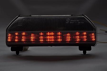 Topzone Moto Clear Lens Motorrad Led Rücklichter Rücklicht Mit Integrierten Blinker Lampe Indikatoren Für Honda 2009 2012 Fury Auto